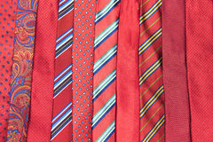 Red neck ties Royalty Free Stock Image