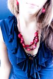 Red necklace  Royalty Free Stock Images