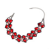 Red necklace Stock Photo