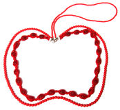 Red necklace in apple shape Royalty Free Stock Photos