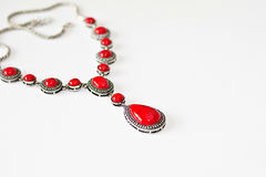 Red necklace Royalty Free Stock Image