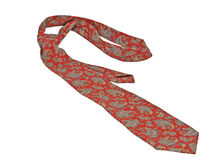 Red necktie. Royalty Free Stock Photography
