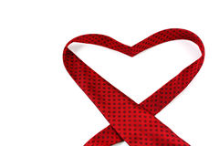 Red necktie forming a heart Stock Image