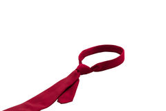 Red Necktie isolated on white background Royalty Free Stock Photo