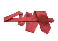 Red Necktie On White Royalty Free Stock Image