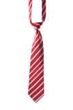 Red necktie on white Stock Images