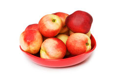 Red nectarines isolated Royalty Free Stock Image