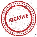 Red NEGATIVE distressed rubber stamp with grunge texture. Illustration Royalty Free Stock Photos