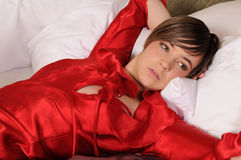 Red negligee Stock Images
