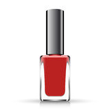 Red neil polish  on white. Vector illustration Royalty Free Stock Photos