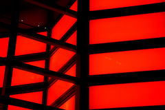 Red neon. Lights in different pattern Stock Images