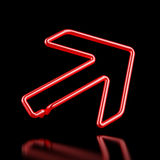 Red Neon arrow Stock Photography