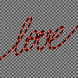 Red Neon Love SIgn. EPS 10 Royalty Free Stock Photos