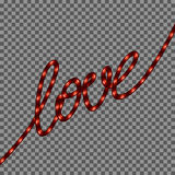 Red Neon Love SIgn. EPS 10 Royalty Free Stock Image