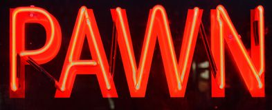 Pawn shop neon sign Royalty Free Stock Photography