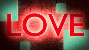 Red neon shine love word background Stock Photos