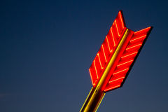 Red neon sign Stock Image