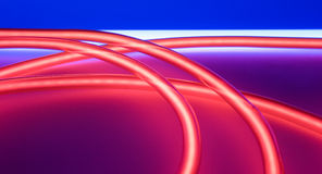Red neon tube lights backgrounds concept Stock Photos