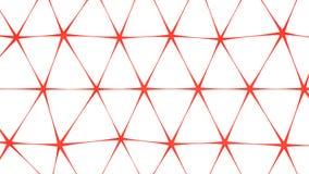 Red net shape abstract 3D render. Red net shape. Abstract 3D render illusrtation royalty free illustration