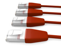 Red Network Cables 2 Royalty Free Stock Images