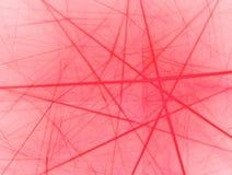 Red Neuron. Fractal background resembling neural net royalty free illustration