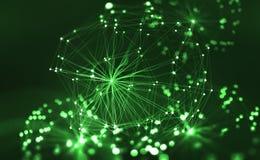 Red neuronal artificial Concepto grande de los datos Inteligencia artificial en la tecnología del futuro stock de ilustración