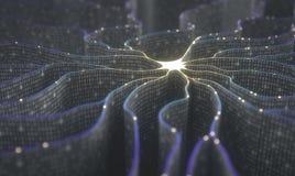 Red neuronal de la inteligencia artificial imagenes de archivo