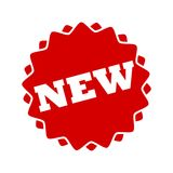 Red New Button Icon. Vector icon Stock Photo