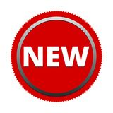 Red New Button Icon Stock Images