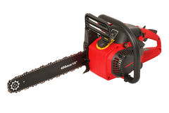Red new chainsaw Royalty Free Stock Photo