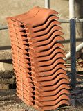 Red new roof tiles Royalty Free Stock Photography