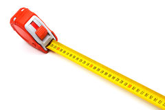 Red new tape-measure Royalty Free Stock Photos