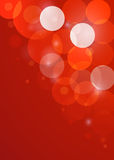 Red New Year bokeh background. Vector EPS10 Stock Images