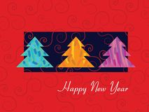 The Red New Year card Royalty Free Stock Photo