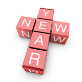 Red New Year Crossword Stock Image