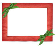 Red new year frame with green Stock Image