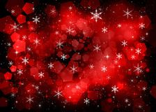 Red New Year background Stock Photos
