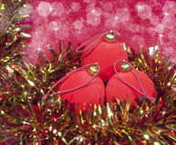 Red New Year's balls Royalty Free Stock Image