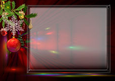 Red New Year's card Royalty Free Stock Photos