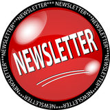 red newsletter button Royalty Free Stock Photography