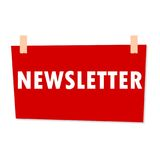 Red Newsletter Sign - illustration Stock Photos