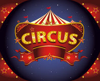 Red night circus sign Royalty Free Stock Image