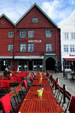 Red Nightclub Outdoor Terrace, Bergen Stock Image