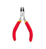Red nippers. On the isolated background Royalty Free Stock Images