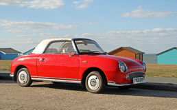 Red nissan figaro Stock Photos
