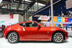 Red Nissan 370Z Royalty Free Stock Image