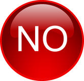 Red no button Royalty Free Stock Images
