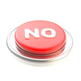 Red no button glossy  Stock Image