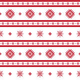Red nordic knitted seamless pattern Stock Photography
