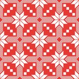 Red nordic vector seamless pattern vector illustration